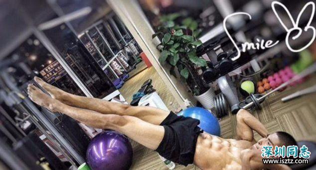 主持人沈凌的健身私教,八块腹肌,算好吗?